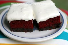 Red Velvet Brownies With Cream Cheese Icing | Two of a kind, working on a full house