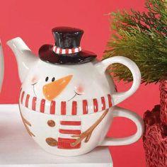 Snowman Cup, Christmas Time, Tea Pots, Tableware, Dinnerware, Tablewares, Tea Pot, Dishes, Place Settings