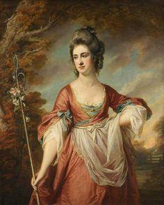 """""""Elizabeth Cust"""" (c. 1770) by Francis Cotes (1726-1770)."""