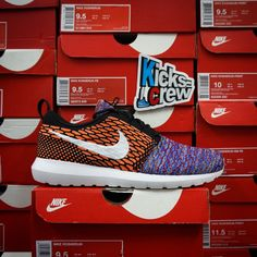 best service 80473 22e96 Kicks-Crew Roshe Week Nike Flyknit Roshe Run - Random Yarn Color 677243-100
