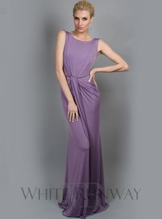 Corrine Dress by Pia Gladys Perey -- An elegant full length gown by Pia Gladys Perey. Featuring gorgeous draping down the front of the dress and a high neckline. Also available in a cocktail version here (Cindy Dress).