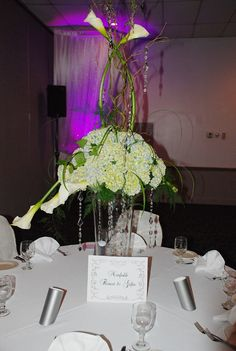 Beautiful Centerpiece created by Norfolk Florist for The Grand Affairs Wedding Show 8/6/14