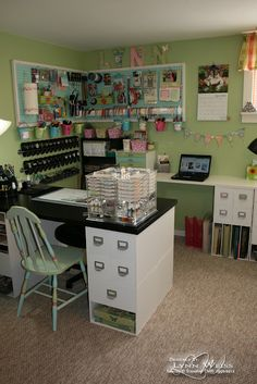 craft room office reveal bydawnnicolecom. would love a scrapping area in my house like this craft room office reveal bydawnnicolecom
