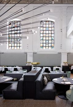 Piet Boon Studio Transformed A church Into 'The Jane' Restaurant in Antwerp interior design house design