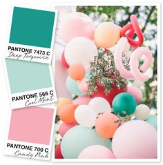 Turquoise, Mint, and Pink Color Palette I can't get enough of this minty fresh color palette! Deep turquoise combined with a pale mint seems to be the perfect pairing. Pink Palette, Colour Pallette, Color Combos, Green Color Schemes, Mint Pantone, Pantone Color, Color Balance, Colorful Party, Color Studies
