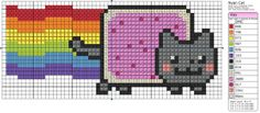 Nyan Cat stitch pattern