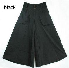 1Pcs Women Pants Falda Pantalon New Brand Design Wide Leg Pants S--8XL Larger Size Thin Women Trousers Cotton