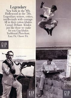 """Salvador Dalí wore khakis""    old Gap ads"