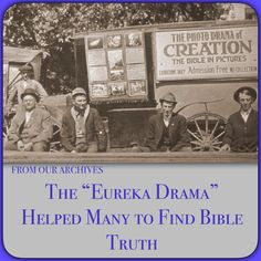 """This abbreviated version of the """"Photo-Drama of Creation"""" could be shown in remote areas, even without electricity. ✾ ✽ ✾ Read, listen or download this article @ JW.org > Publications > Magazines > THE WATCHTOWER (Study Edition) August 2014, Are You Receiving """"The """"Eureka Drama"""" Helped Many to Find Bible Truth."""" Available in 300+ (including sign) languages."""