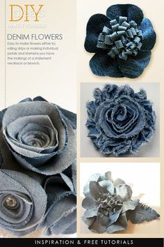 Obsessed with denim? DIY some great statement necklaces   tutorials for a variety of fun techniques DiaryofaCreativeFanatic