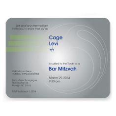 Cage Bar Mitzvah 2014 invitation