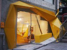 The Konzepp Concept Shop by Geoff Tsui is Vibrantly Wild #windowdisplays #marketing trendhunter.com