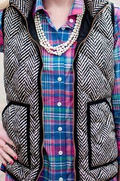 herringbone vest. Preppy Fall, Preppy Style, My Style, Fall Winter Outfits, Autumn Winter Fashion, Fall Fashion, Preppy Fashion, Winter Style, Fashion Ideas