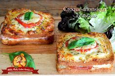 Italian Croque-Monsieur Croque-monsieur on the Italian Easy Healthy Meal Prep, Fast Healthy Meals, Healthy Dinner Recipes, Wrap Sandwiches, Cooking Time, Food Inspiration, Finger Foods, Food Porn, Good Food