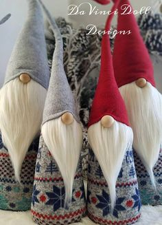 XL Christmas Nordic Gnomes Set of Two Woodland Tomte