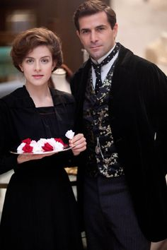 Still of Grégory Fitoussi (hubba hubba) and Aisling Loftus in Mr Selfridge