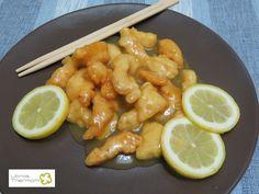 Pollo al limón al estilo Chino con Thermomix