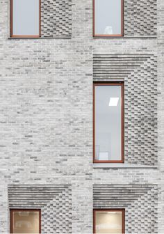 Brick Facade, Brick Wall, Brick Detail, Brickwork, Facade Architecture, Urban Design, Mirror, Extensions, Stone