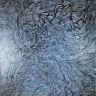 "F. Polenghi, ""K31"", 2010, oil on canvas, cm 100 x 100."