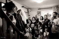 family waiting for bride