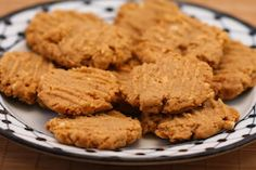 Kalyn's Kitchen®: Recipe for Flourless, Sugar-Free Peanut Butter Cookies (Gluten-Free)  #SouthBeachDiet friendly