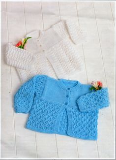 """Baby Matinee Coats knitting pattern PDF premature Baby Matinee Jackets Baby Cardigans Coats 12-20"""" DK light worsted 8ply Instant Download"""
