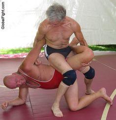 wrestling man fights older silverdaddie bears