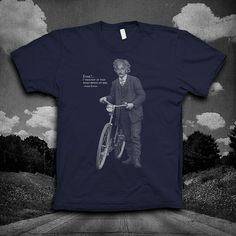 Albert Einstein Bike quote Tshirt Mens by vortextradingcompany