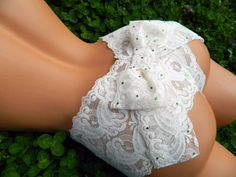 RESERVED FOR T Bridal Mrs. Booty Bow Panty Stretch Lace Something Blue Wedding LIngerie in Custom and PLus Sizes