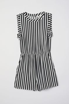 767b5765c04b Sleeveless playsuit - White Black striped - Ladies