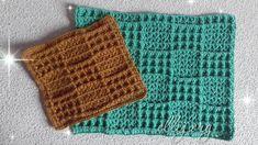 Плед из двух любимых узоров крючком. Схемы вязания, пошаговый фото МК Crochet Cable, Hand Crochet, Crochet Top, Knitting Squares, Crochet Lace Collar, Crochet Edging Patterns, Knitted Hats, Kids Outfits, Blanket