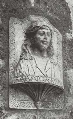 The original of this bust was found in the Church of San Salvatore in Termis now destroyed. It is an open secret that Cesare Borgia the son of Pope Alexander had posed for it. Upon the the demolition of the church the bust disappeared, until it was rediscovered on the walls of the penitentiary of Civita Castellana near Rome.