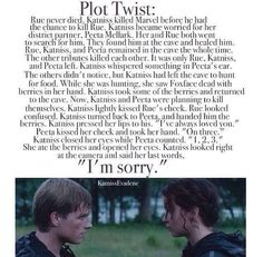 The Hunger Games plot twist I HATE THIS ONE! SO MANY FEELS