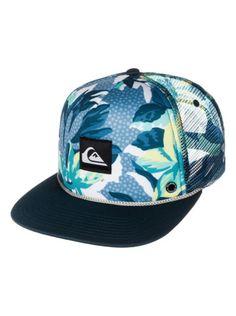 New Quiksilver Mens Slappy Flat Bill Trucker Hat Snapback Cap  f487628ffd6d