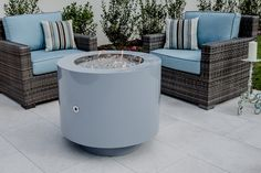 bentintoshape.com powder coated hidden tank gas fire pit in pure white
