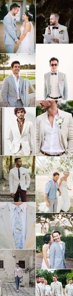 Groom Wearing Light Coloured Jacket For Wedding   Groom Fashion Inspiration