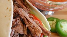 My husband grew up in southern California, and he says this shredded Mexican beef is the best he's ever had. Use it in burritos, tacos, salads and more.