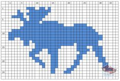 moose knitting pattern - Google Search