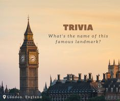 """Do you know the name of this famous London landmark? Click on """"See More"""" to reveal the answer!.......Did you say Big Ben? Trick question! Although a common nickname, that isn't the official moniker for this clock tower. Originally, it was simply titled the Clock Tower, but was renamed to the Elizabeth Tower in 2012. travelpics #travelphoto #traveltheworld #travellife"""