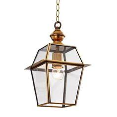 Arredo casa Lampadario stile lanterna rifiniture oro - Myefox.it