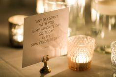 Such a sweet quote to place on the bride and groom's wedding tables. | Morning Light by Michelle Landreau