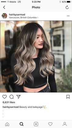 6 Great Balayage Short Hair Looks – Stylish Hairstyles Hair Color Balayage, Hair Highlights, Ombre Hair, Ash Blonde Balayage Dark, Ash Blonde Hair Balayage, Brown Highlights, Lemy Beauty, Hair Color And Cut, Hair Color Ideas For Dark Hair