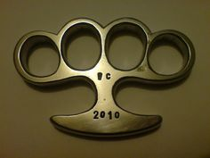 brass knuckles | Large+T+handle++brass+knuckles+knuckle+duster+homemade+weaponcollector ...