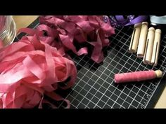 Using dolly pegs to store loose ribbon