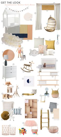 Want a Scandinavian Modern Little Girl's Bedroom? Here's a the perfect guide @stokkebaby @bradytolbert
