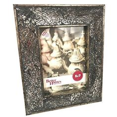 Details about  Better Homes and Gardens Picture Frame Crackled Mosaic Mirror Metallic Glass 5x7