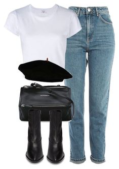 """Untitled #7203"" by laurenmboot ❤ liked on Polyvore featuring Topshop, RE/DONE and Givenchy"