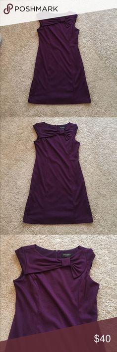 Deep purple dress Super cute deep purple dress , has inside lining and zips up the band . Excellent condition studio I Dresses