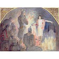"""MORIANTON'S MAIDSERVANT, 1949-1951, MINERVA TEICHERT, 36 x 48"""", Oil on masonite"""