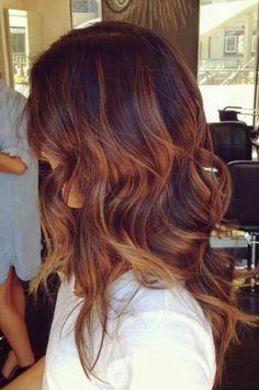 Red Caramel Hair Color Fall Hair Color Auburn Ombre Copper Balayage and Focus On Onbre Hair, New Hair, Curly Hair, Rose Hair, Cabelo Tiger Eye, Hair Color Auburn, Tiger Eye Hair Color, Dark Auburn, Fall Auburn Hair